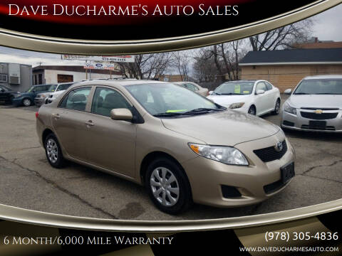 2010 Toyota Corolla for sale at Dave Ducharme's Auto Sales in Lowell MA