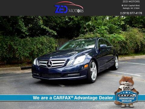 2013 Mercedes-Benz E-Class for sale at Zed Motors in Raleigh NC