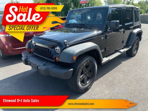 2011 Jeep Wrangler Unlimited for sale at Elmwood D+J Auto Sales in Agawam MA