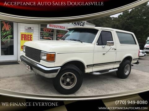 1989 Ford Bronco for sale at Acceptance Auto Sales Douglasville in Douglasville GA