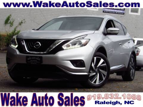 2017 Nissan Murano for sale at Wake Auto Sales Inc in Raleigh NC