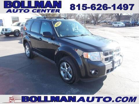 2011 Ford Escape for sale at Bollman Auto Center in Rock Falls IL