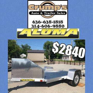 2022 Aluma Motorcycle Trailer for sale at CRUMP'S AUTO & TRAILER SALES in Crystal City MO