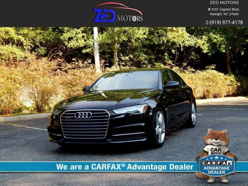 2016 Audi A6 for sale at Zed Motors in Raleigh NC