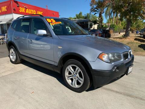 2005 BMW X3 for sale at 3K Auto in Escondido CA