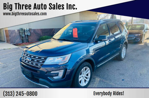 2017 Ford Explorer for sale at Big Three Auto Sales Inc. in Detroit MI