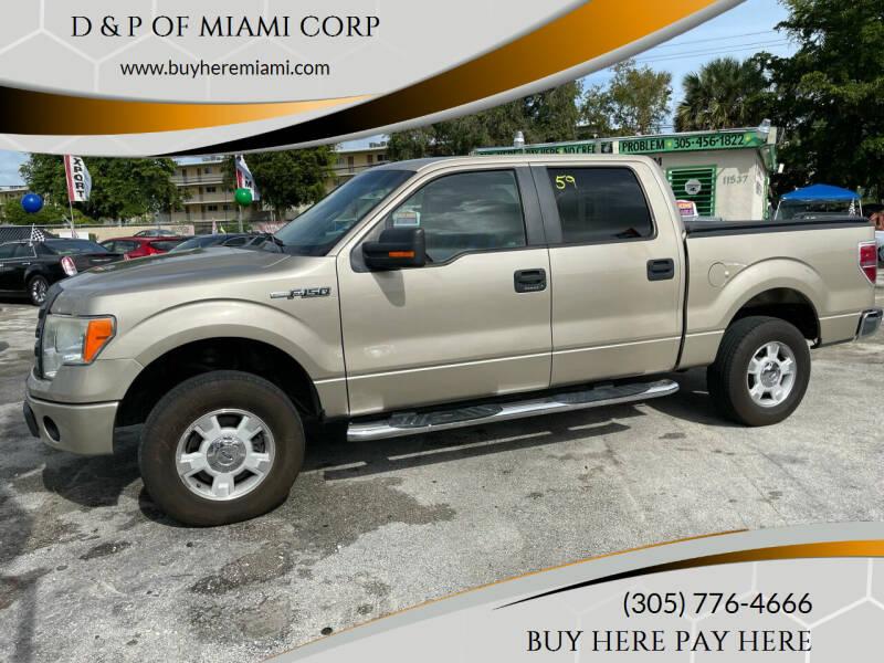 2010 Ford F-150 for sale at D & P OF MIAMI CORP in Miami FL