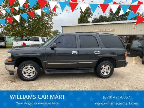 2005 Chevrolet Tahoe for sale at WILLIAMS CAR MART in Gassville AR