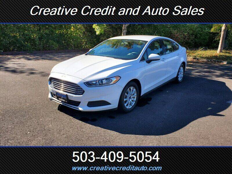 2016 Ford Fusion for sale at Creative Credit & Auto Sales in Salem OR