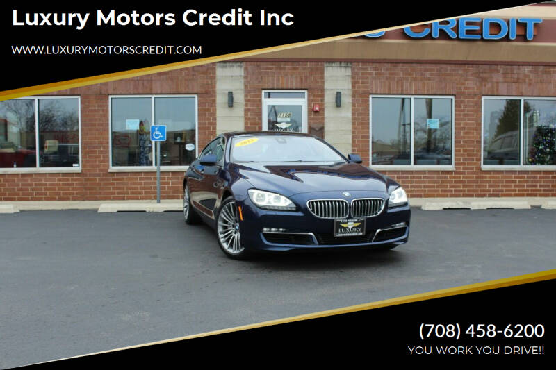 2013 BMW 6 Series for sale at Luxury Motors Credit Inc in Bridgeview IL