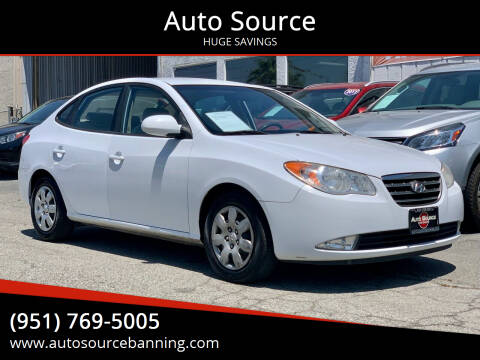 2009 Hyundai Elantra for sale at Auto Source in Banning CA