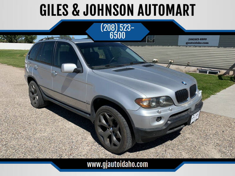 2005 BMW X5 for sale at GILES & JOHNSON AUTOMART in Idaho Falls ID