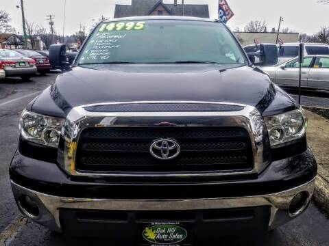 2008 Toyota Tundra for sale at Oak Hill Auto Sales of Wooster, LLC in Wooster OH