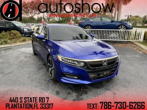 2019 Honda Accord for sale at AUTOSHOW SALES & SERVICE in Plantation FL
