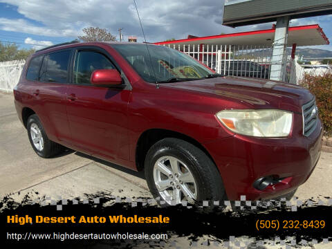 2008 Toyota Highlander for sale at High Desert Auto Wholesale in Albuquerque NM