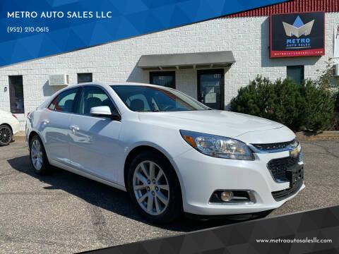 2015 Chevrolet Malibu for sale at METRO AUTO SALES LLC in Blaine MN