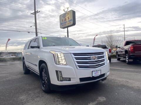 2016 Cadillac Escalade ESV for sale at S&S Best Auto Sales LLC in Auburn WA