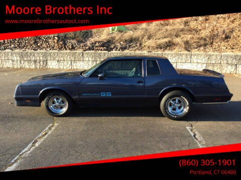 1984 Chevrolet Monte Carlo for sale at Moore Brothers Inc in Portland CT
