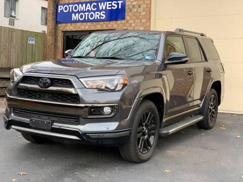 2019 Toyota 4Runner for sale at POTOMAC WEST MOTORS in Springfield VA