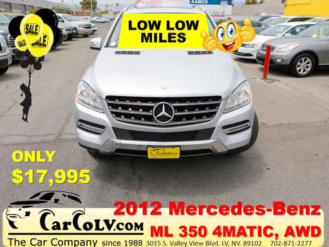 2012 Mercedes-Benz M-Class for sale at The Car Company in Las Vegas NV