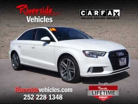 2018 Audi A3 for sale at Riverside Mitsubishi(New Bern Auto Mart) in New Bern NC