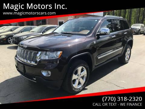 2012 Jeep Grand Cherokee for sale at Magic Motors Inc. in Snellville GA