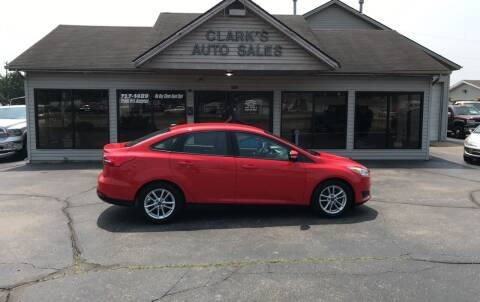 2015 Ford Focus for sale at Clarks Auto Sales in Middletown OH