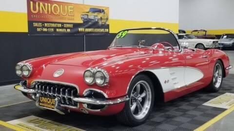 1959 Chevrolet Corvette for sale at UNIQUE SPECIALTY & CLASSICS in Mankato MN