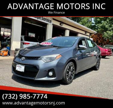 2014 Toyota Corolla for sale at ADVANTAGE MOTORS INC in Edison NJ