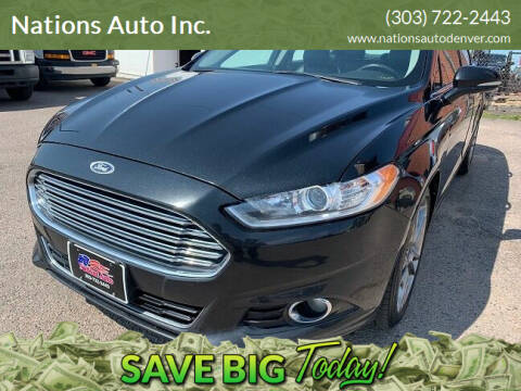 2014 Ford Fusion for sale at Nations Auto Inc. in Denver CO