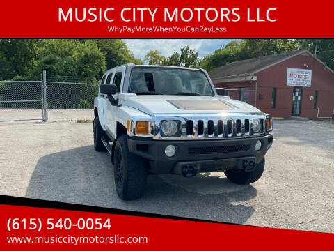 2007 HUMMER H3 for sale at MUSIC CITY MOTORS LLC in Nashville TN