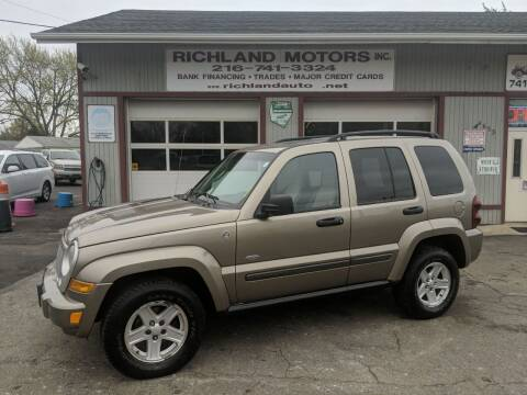 2007 Jeep Liberty for sale at Richland Motors in Cleveland OH