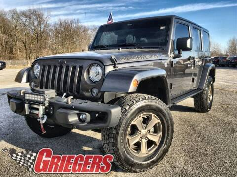 2018 Jeep Wrangler JK Unlimited for sale at GRIEGER'S MOTOR SALES CHRYSLER DODGE JEEP RAM in Valparaiso IN