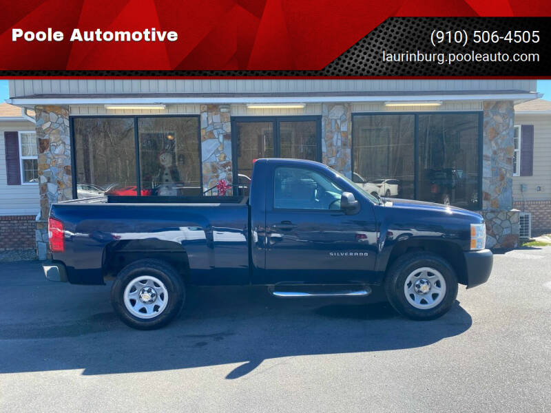 2011 Chevrolet Silverado 1500 for sale at Poole Automotive in Laurinburg NC