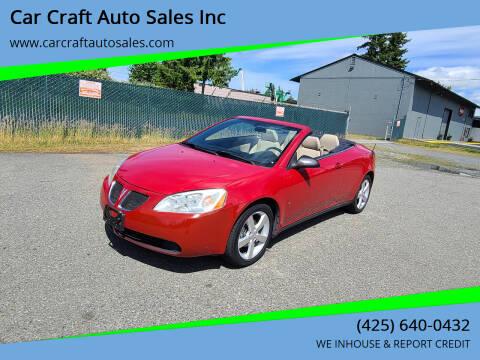 2007 Pontiac G6 for sale at Car Craft Auto Sales Inc in Lynnwood WA