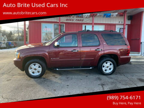 2008 Chevrolet Tahoe for sale at Auto Brite Used Cars Inc in Saginaw MI