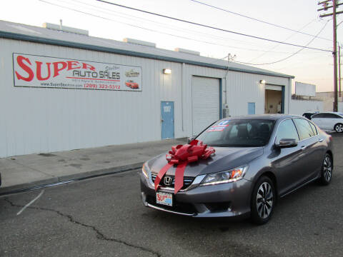 2014 Honda Accord Hybrid for sale at SUPER AUTO SALES STOCKTON in Stockton CA