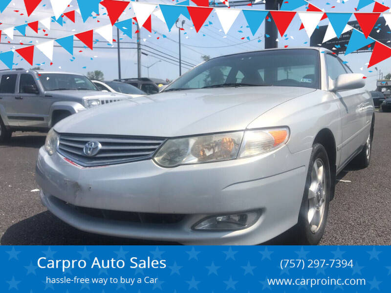 2001 Toyota Camry Solara for sale at Carpro Auto Sales in Chesapeake VA
