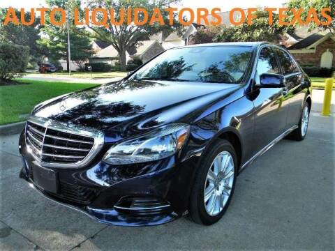 2014 Mercedes-Benz E-Class for sale at AUTO LIQUIDATORS OF TEXAS in Richmond TX
