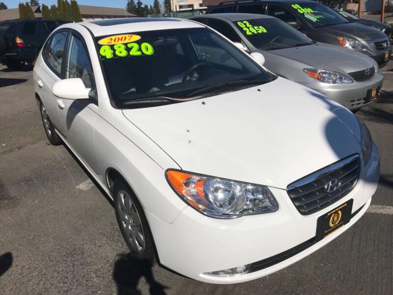 2007 Hyundai Elantra for sale at Bayview Motor Club, LLC in Seatac WA