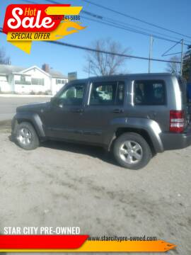 2012 Jeep Liberty for sale at STAR CITY PRE-OWNED in Morgantown WV