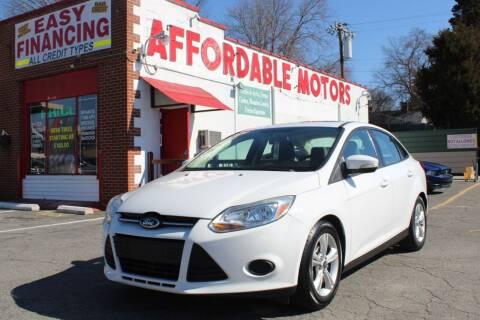 2014 Ford Focus for sale at AFFORDABLE MOTORS INC in Winston Salem NC