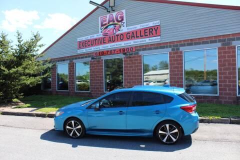 2018 Subaru Impreza for sale at EXECUTIVE AUTO GALLERY INC in Walnutport PA