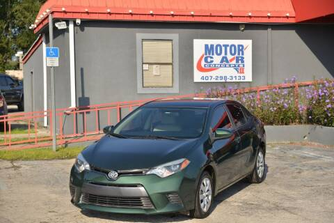 2015 Toyota Corolla for sale at Motor Car Concepts II - Kirkman Location in Orlando FL