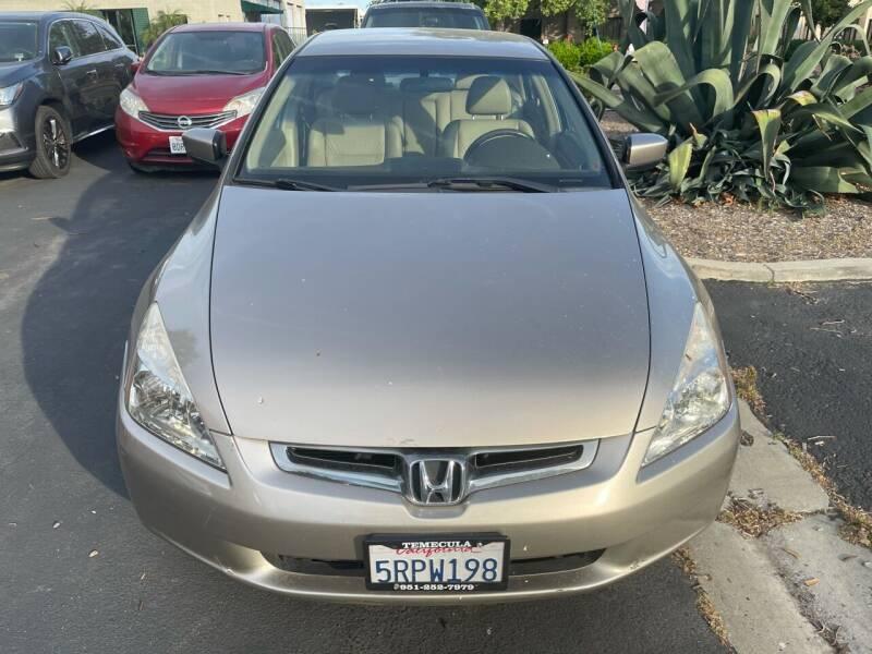 2005 Honda Accord for sale at Faith Auto Sales in Temecula CA