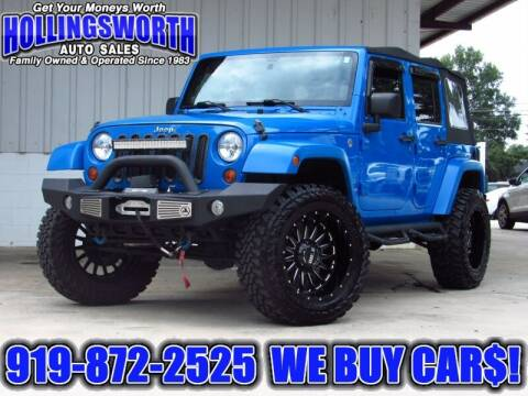 2011 Jeep Wrangler Unlimited for sale at Hollingsworth Auto Sales in Raleigh NC