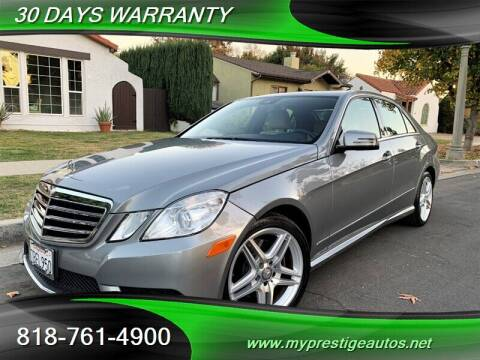 2013 Mercedes-Benz E-Class for sale at Prestige Auto Sports Inc in North Hollywood CA