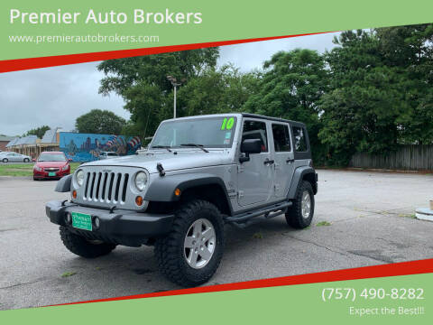 2010 Jeep Wrangler Unlimited for sale at Premier Auto Brokers in Virginia Beach VA