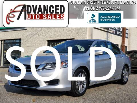 2013 Honda Accord for sale at Advanced Auto Sales in Tewksbury MA