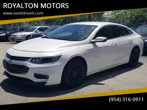 2017 Chevrolet Malibu for sale at ROYALTON MOTORS in Plantation FL